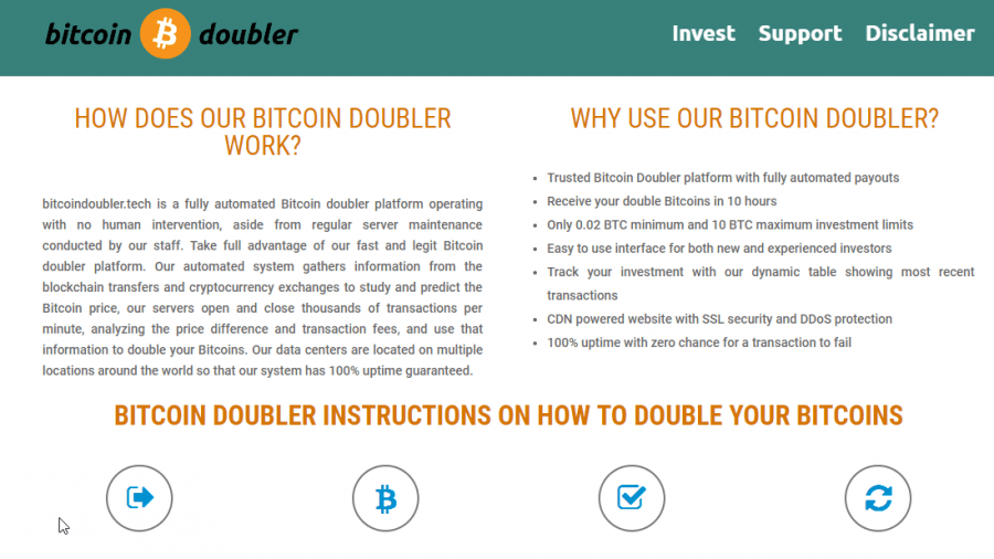 bitcoin double review